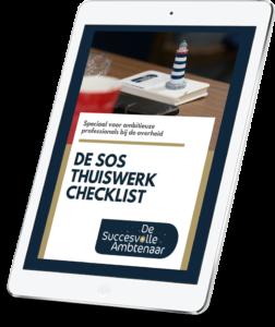 Checklist thuiswerken bij de overheid
